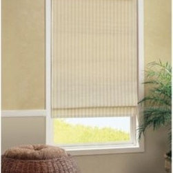 B. Smith - B. Smith Croix Roman Cordless Shade - The simple, modern design of this roman shade brings instant style to your surroundings. The cordless shade gently filters light, creating a soft atmosphere in any room, while the cordless design offers a clean look with ease of use.