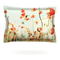 "Kess InHouse - Bree Madden ""Poppy"" Pillow Sham (Woven, 30"" x 20"") - Pairing your already chic duvet cover with playful pillow shams is the perfect way to tie your bedroom together. There are endless possibilities to feed your artistic palette with these imaginative pillow shams. It will looks so elegant you won't want ruin the masterpiece you have created when you go to bed. Not only are these pillow shams nice to look at they are also made from a high quality cotton blend. They are so soft that they will elevate your sleep up to level that is beyond Cloud 9. We always print our goods with the highest quality printing process in order to maintain the integrity of the art that you are adeptly displaying. This means that you won't have to worry about your art fading or your sham loosing it's freshness."