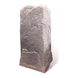 "Dekorra - Fake Rock Pedestal Cover-Model 113, Riverbed - 18""L x 17""W x 34""H; 8 lbs"