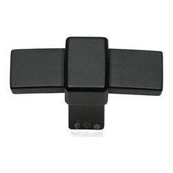 Atlas Homewares - Cabinet Hardware - Buckle Up T Knob in Matte Black -