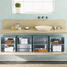 Modern  Modern Under the Sink Bathroom Storage
