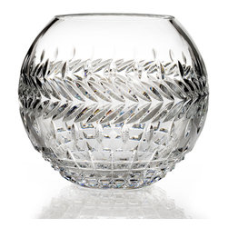 """Waterford - """"Meg"""" Rose Bowl - CLEAR - Waterford""""Meg"""" Rose BowlDetailsClear crystal rose bowl encircled by alternating borders.Hand wash.5""""Dia. x 8""""T.Imported. Designer About Waterford Crystal:Established in 1783 Waterford crystal is cherished around the world for its rich tradition of craftsmanship and artistry. Each piece from stemware to decorative items is still mouth blown and handcrafted by master artisans. A customary gift to royalty and heads of state a treasured heirloom for generations."""