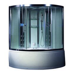 Atlas International - Ariel Platinum DA324HF3 Steam Shower with Tub - Ariel Platinum DA324HF3 Steam Shower with tub 59x59x89
