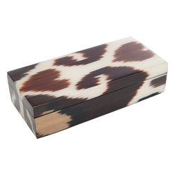 Madeline Weinrib Small Brindle Mor Box - I absolutely love the print on this box. It would be so pretty on a vanity or desk.