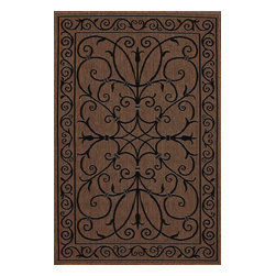 "Nu Loom - Indoor/Outdoor Traditional 5'3""x7'9"" Rectangle Brown Area Rug - The Traditional area rug Collection offers an affordable assortment of Indoor/Outdoor stylings. Traditional features a blend of natural Brown color. Machine Made of 100% Polypropylene the Traditional Collection is an intriguing compliment to any decor."