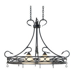 Kenroy - Kenroy 91562RBRZ Countryside 2-Light Pot Rack - Kenroy 91562RBRZ Countryside 2-Light Pot Rack