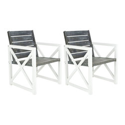 Safavieh - Safavieh Irina Club Chair - Set of 2 - FOX6701A-SET2 - Shop for Chairs and Sofas from Hayneedle.com! The Safavieh Irina Club Chair - Set of 2 gives an outdoor look to your outdoors. The strong acacia wood seat and back have a woodsy feel that is right at home on your deck or patio. And with the galvanized-steel sides you won't have to leave your modern-design sensibilities inside.About SafaviehConsidered the authority on fine quality craftsmanship and style since their inception in 1914 Safavieh is most successful in the home furnishings industry thanks to their talent for combining high tech with high touch. For four generations the family behind the Safavieh brand has dedicated its talents and resources to providing uncompromising quality. They hold the durability beauty and artistry of their handmade rugs well-crafted furniture and decorative accents in the highest regard. That's why they focus their efforts on developing the highest quality products to suit the broadest range of budgets. Their mission is perpetuate the interior furnishings craft and lead with innovation while preserving centuries-old traditions in categories from antique reproductions to fashion-forward contemporary trends.