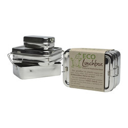 Eco Lunchbox - Eco Lunch Box 3-in-1 Set - Simplify your life and help the environment while you're at it with these stainless steel lunch containers. Banish the plastic and keep your food fresh whether you're going to school, work or on a picnic.