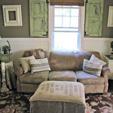 Eclectic Living Room by The Painted Home