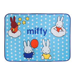 Blancho Bedding - [Miffy - Blue] Coral Fleece Baby Throw Blanket (28.7 by 39.4 inches) - The Coral Fleece Baby Kids Throw Blanket measures 28.7 by 39.4 inches. Whether you are adding the final touch to your bedroom or rec-room, these patterns will add a little whimsy to your decor. Machine wash and tumble dry for easy care. Will look and feel as good as new after multiple washings! This blanket adds a decorative touch to your decor at an exceptional value. Comfort, warmth and stylish designs. This throw blanket will make a fun additional to any room and are beautiful draped over a sofa, chair, bottom of your bed and handy to grab and snuggle up in when there is a chill in the air. They are the perfect gift for any occasion! Available in a choice of whimsical kid-friendly prints to spark the imagination, the blanket is durable enough to look great on the go.