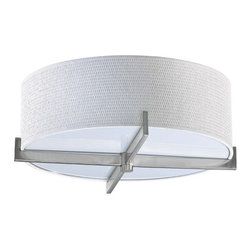 """Quorum International - Quorum International 3162-17 Channing 3 Light 17"""" Flushmount Ceiling Fixture - Quorum International 3162-17 Channing 3 Light 17"""" Flushmount Ceiling FixtureThe lights of the Channing Collection have a contemporary design that includes bold geometric lines that enhance rather than overwhelm.Quorum International 3162-17 Features:"""