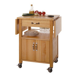 Winsome - Kitchen Cart - With two drop-leaf counter tops that provide a long, smooth surface, this cart is a perfect addition to any kitchen. Ideal for storing right next to a dining room table, it has room to stow plates, glasses, and flatware.