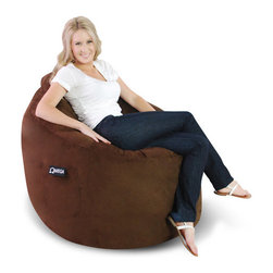 Elite Products - Omega Kid's Bean Bag Lounger - The Omega Lounger is an ultra soft, formed-seating solution made is the USA and guaranteed to smooth your every muscle and joint of your body. The fiberfill is ergonomically crafted with webbed polyester filling to produce the perfect balance of resiliency and support. Features: -Ultra microsuede. -Side pocket. -Headrest. -Made in the USA. -1 Year limited warranty against workmanship / manufacturing / material defects.