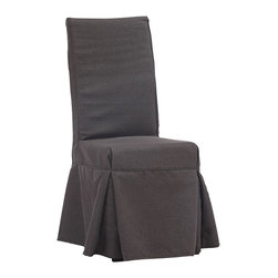 "Zuo - Zuo Dogpatch Charcoal Gray Accent Chair - Solid wood relaxed design accent or dining chair. Molded foam seat with a charcoal gray linen fabric cover. Slipcover has 4 ties in the back for added flair. A chic addition to your home from Zuo Modern. 16 1/2"" wide. 19 3/4"" deep. 40 3/4"" high. Seat is 16 1/2"" wide 16 3/4"" deep and 19 3/4"" high. Fully assembled.  Solid wood relaxed design accent or dining chair.  Molded foam seat with a charcoal gray linen fabric cover.  Slipcover has 4 ties in the back for added flair.  A chic addition to your home from Zuo Modern.  16 1/2"" wide.  19 3/4"" deep.  40 3/4"" high.  Seat is 16 1/2"" wide 16 3/4"" deep and 19 3/4"" high.  Fully assembled."