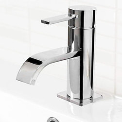 Bathroom Sink Faucets - Contemporary Centerset Bathroom Sink Faucet