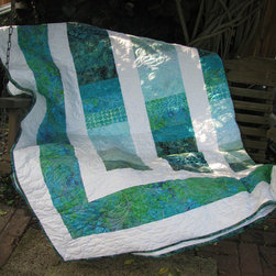 Queen Quilt, Sea Breeze by Quilts in the City - I'm loving the sea-inspired feel of this quilt.