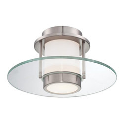 George Kovacs - George Kovacs P854-084 1 Light Flush Mounts In Brushed Nickel - Product