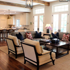 Traditional Family Room by Nadia Watts Interior Design
