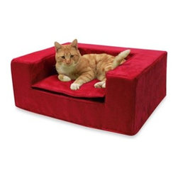 Best Friends By Sheri - Best Friends by Sheri Small Luxury Sofa in Lipstick - The eye-catching color of this luxury pet sofa would inject a fresh pop of color to any room. It also provides beloved pets a plush space of their own courtesy of a lightweight, flexible and durable foam core, and a removable top cushion.