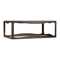 "Hooker Furniture - Hooker Furniture Cullterton Rectangle Cocktail Table - Cullerton living room tables are crafted from metal, railroad ties, and wormy pine solids. Metal with Railroad Ties and Wormy Pine Solids. Dimensions: 54""W x 32""D x 20""H."