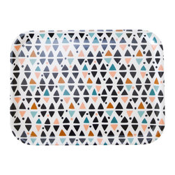 Triangles Tray - Handmade from Scandinavian birch veneer. Perfect small size tray for breakfast in bed. Dishwasher safe.