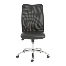 Euro Style - Euro Style Sabati Mesh Office Chair No Arms 02750BLK - Long hours at the office have almost become the norm. So it's time to make sure everyone is comfortable. A foam seat moves with you and creates a naturally relaxing shape. The mesh back is light and airy and lowers the temperature should things get hot at the office.