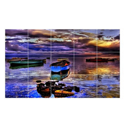 Picture-Tiles, LLC - Boat Ship Photo Bathroom Shower Tile Mural  18 x 30 - * Boat Ship Photo Bathroom Shower Tile Mural 1208