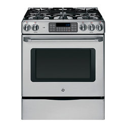 "GE Cafe Series 30"" Free-Standing Range with Storage Drawer - Features:"