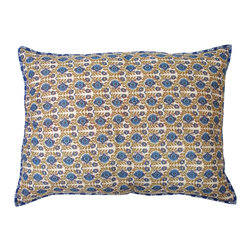Divine Designs - Mira sham- Blue and Beige - This pair of shams will add a, colorful and vibrant style to your bedroom.