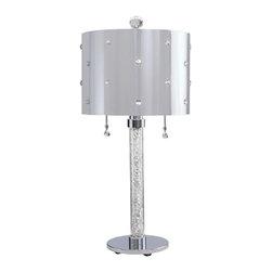 George Kovacs - P028 Bling Bling 2-lt Table Lamp - 2 Light Table Lamp Crystal w/ Metal Shade