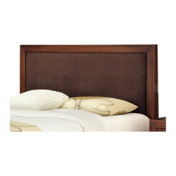 Home Styles - Home Styles Duet Queen Panel Headboard Brown Microfiber Inset-Queen - Full - Home Styles - Headboards - 5546501C - Create distinctive style with this modern Headboard. The Panel Headboard is accentuated with a Brown Microfiber Panel inset and is padded for comfort.