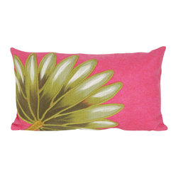 """Trans-Ocean - Palm Fan Pink Pillow - 12""""X20"""" - The highly detailed painterly effect is achieved by Liora Mannes patented Lamontage process which combines hand crafted art with cutting edge technology.These pillows are made with 100% polyester microfiber for an extra soft hand, and a 100% Polyester Insert.Liora Manne's pillows are suitable for Indoors or Outdoors, are antimicrobial, have a removable cover with a zipper closure for easy-care, and are handwashable."""