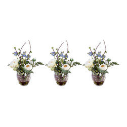 "60002 Alpine Meadow Bouquet, Set/3 by Uttermost - Get 10% discount on your first order. Coupon code: ""houzz"". Order today."