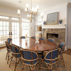 Tropical Dining Room by Chandos Interiors