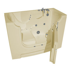 Arista - 30 x 60 Right Drain Biscuit Whirlpool & Air Jetted Wheelchair Accessible Bathtub - DESCRIPTION