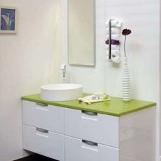 Contemporary Vanity Tops And Side Splashes PYROLAVE Glazed Lava Stone