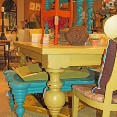 eclectic dining tables by Elizabeth Cole, LLC