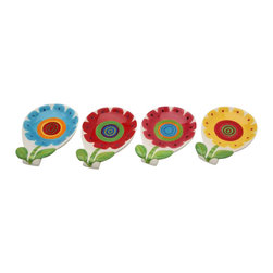 ATD - 4 Piece Set of Multicolored Sunflower Design Dip Dishes, 5 1/8 inch - This gorgeous 4 Piece Set of Multicolored Sunflower Design Dip Dishes, 5 1/8 inch has the finest details and highest quality you will find anywhere! 4 Piece Set of Multicolored Sunflower Design Dip Dishes, 5 1/8 inch is truly remarkable.