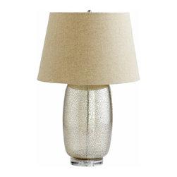 Golden Crackle Glass Table Lamp - *Vista Lamp