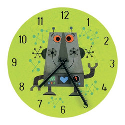 Mudpuppy Robot Wall Clock - This is a cute clock for the robot-loving kid.
