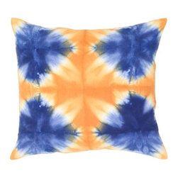 Rizzy Home - Navy and Orange Decorative Accent Pillows (Set of 2) - T04414 - Set of 2