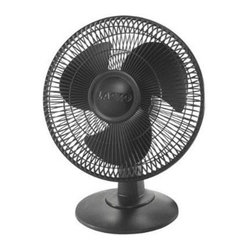 "Lasko Products - Table Fan, 3-speed 12 "" , Black - 12"" Table Fan, 3-speed (black). 3 Quiet Speeds, Wide are oscillation, Tilt-back Feature, Easy-Grip Rotary Control, Widespread Oscillation, Simple ""No Tool"" Assembly, ETL Listed, Ideal for All Rooms"