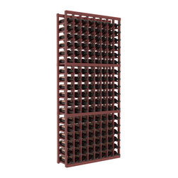Wine Racks America - 8 Column Standard Wine Cellar Kit in Redwood, Cherry Stain + Satin Finish - Wooden wine storage available in pine or redwood Plus many stain and finish options. The best rack for an intermediate collector. This rack stores up to 12 cases of wine in 18 bottle columns. You'll love it. We guarantee it.