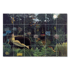 Picture-Tiles, LLC - The Dream Tile Mural By Jean Jacques Rousseau - * MURAL SIZE: 24x36 inch tile mural using (24) 6x6 ceramic tiles-satin finish.