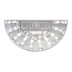 Welcome Mat - Pineapple - Pewter Silver - Welcome Mat - Pineapple - Pewter Silver