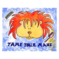 Oh How Cute Kids by Serena Bowman - Tame Your Mane, Ready To Hang Canvas Kid's Wall Decor, 8 X 10 - I created this in hopes it would serve has reminders to my kids.  Make the bathroom a fun place and maybe just maybe the kiddies will actually go wash there hands and brush their teeth??  Here's to hoping!