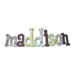 RR - Maddison Green Paisley Splash Hand Painted Wall Letters - Green Paisley Splash Hand Painted Wall Letters