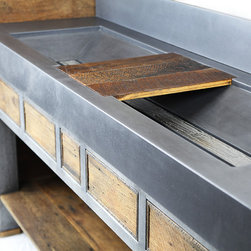 Urban Series - Our Urban Series combines zinc plated steel, reclaimed wood, and concrete to form a certain refined rawness that shows the heart of each material.