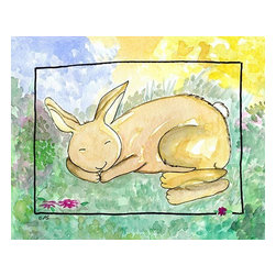 Oh How Cute Kids by Serena Bowman - What Do Bunnies Dream, Ready To Hang Canvas Kid's Wall Decor, 11 X 14 - Each kid is unique in his/her own way, so why shouldn't their wall decor be as well! With our extensive selection of canvas wall art for kids, from princesses to spaceships, from cowboys to traveling girls, we'll help you find that perfect piece for your special one.  Or you can fill the entire room with our imaginative art; every canvas is part of a coordinated series, an easy way to provide a complete and unified look for any room.