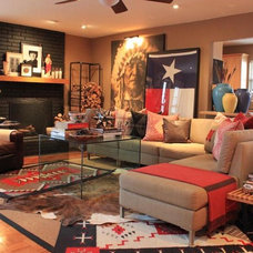 Eclectic Living Room by The Cavender Diary